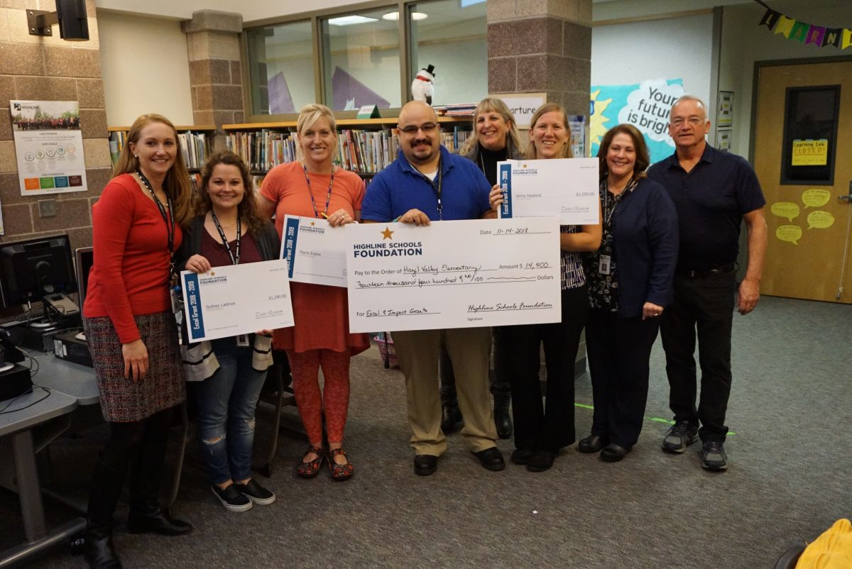 foundation gifts 122k in grants to highline staff