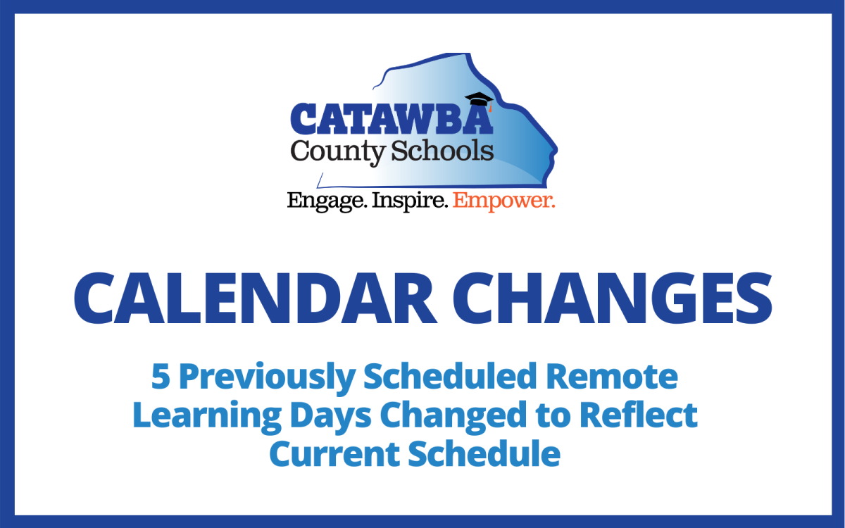 Catawba County Schools Calendar 2021 District Calendar   5 Remote Days Changed | News Details Page