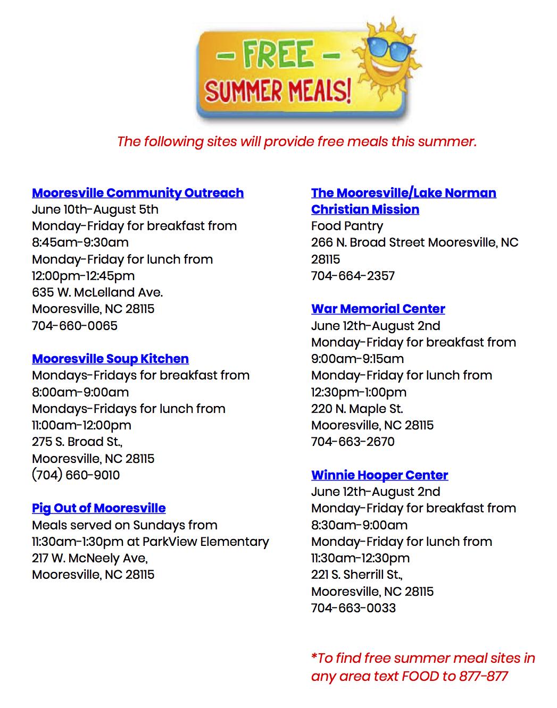 Lake norman elementary lunch menu