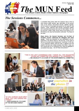 First page of the PDF file: COBISMUNNewsletterIssue2SaturdayMarch242018