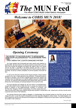First page of the PDF file: COBISMUNNewsletterIssue1FridayMarch232018