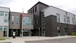 The main entrance to North Creek High School
