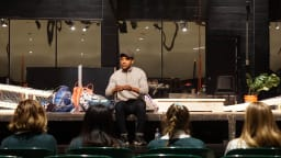 Danté Jeanfelix '11 recently visited Ms. Avery's acting class to share stories of the biz!