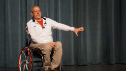 Paralympic curler and Connecticut native Steve Emt visited Northwest Catholic on May 13 to deliver a powerful message — make