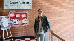 Emma Deneen works as Americorp Volunteer at Grace Academy