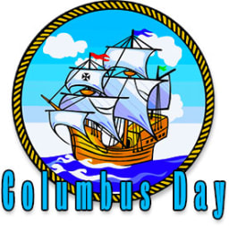 Columbus Day ship on water