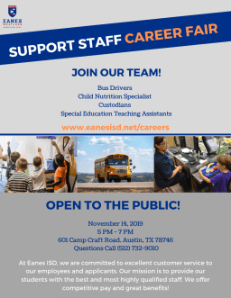 Support Staff Fair, Nov 14