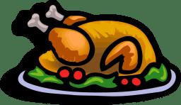 Baked turkey on a platter