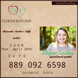 Cornerstone PTF Zoom Apr 30