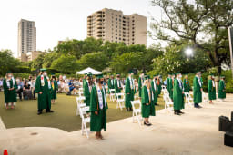 the outdoor commencement of the class of 2020