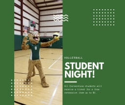 Cornestone Student Night Volleyball