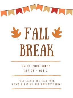 Cornerstone Fall Break