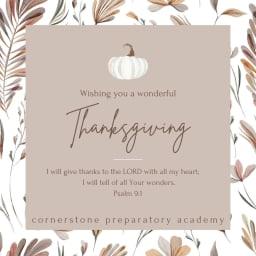 Happy Thanksgiving, Cornerstone