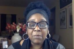 Crystal Melchor introducing Diversity Task Force