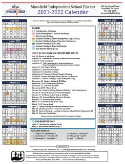 Mansfield Isd Calendar 2021-2022 Wallpaper