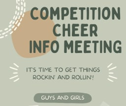 Competition Cheer Meeting for Fall 2021
