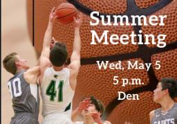 Cornerstone Summer Basketball Meeting