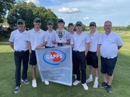 Cornerstone Golf Team State Champions 2021