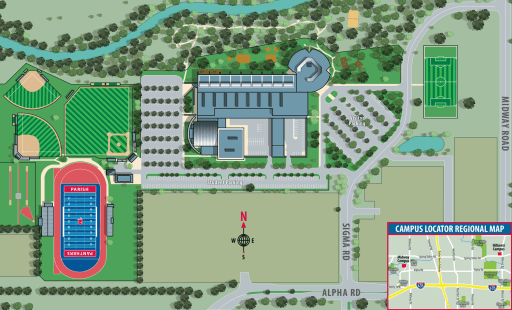 School Campus Map.Midway Campus Map Parish Episcopal School