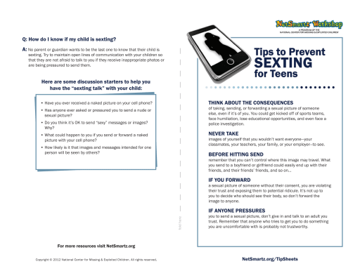 Sexting Prevention - Davis School District