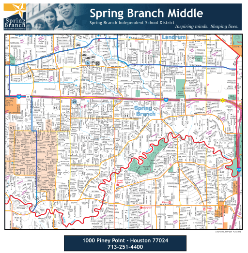spring branch houston map Attendance Area Map Spring Branch Middle School