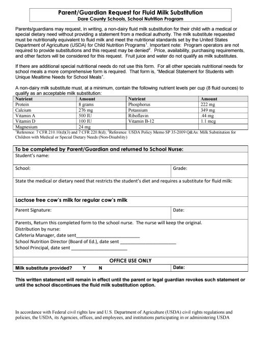Food Allergy Information - Dare County Schools