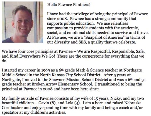 Principal/Mission - Pawnee Elementary School