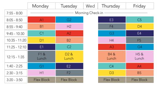 schedule iblock park tudor school