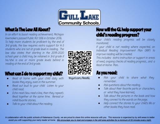 New Reading Bill Gull Lake Community Schools