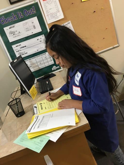 Kerr Fifty Grade Student At Biz Town