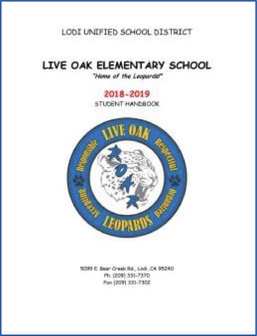 Student Parent Handbook Lodi Unified School District