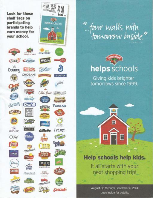 hannaford fundraising flyer bennett elementary school