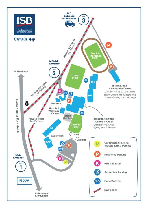 Campus map - International School of Brussels