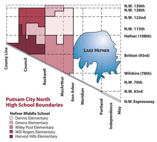 Putnam City North Boundaries - Putnam City Schools