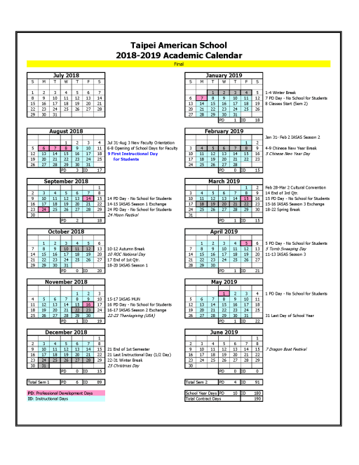 click here to view the 2018 2019 academic calendar adopted november 22 2017 pdf file