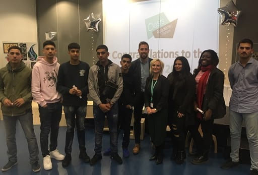 4d346f7e37 The Year 11 awards presentation evening at Oasis Academy Oldham featured a  very special guest who knows a thing or two about staying power!