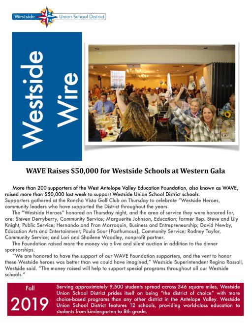 Home Westside Union School District