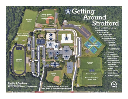 Independence High School Campus Map.Campus Map Stratford Academy