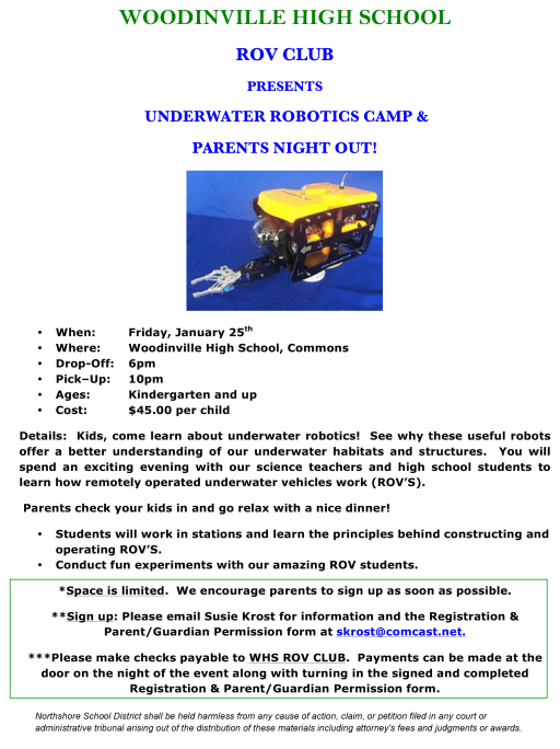 ROV (Remotely Operated Vehicles) - Woodinville High School