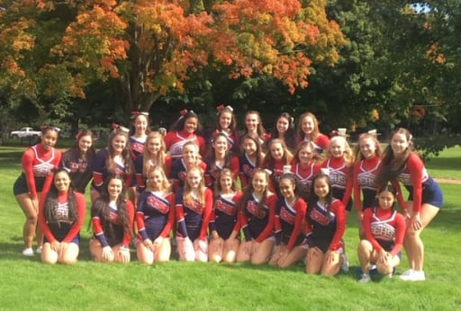 f65eb813e45 Raider Cheerleaders Raise Funds for Dana-Farber and Earn Clinic with  Patriots Cheer Team