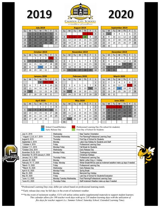 Philadelphia School Calendar 2020 2019 2020 School Calendar