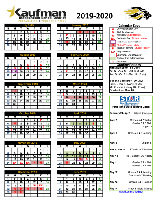 District Calendar -