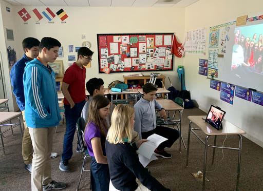 Middle School Students Skype with French Pen Pals | Morristown-Beard