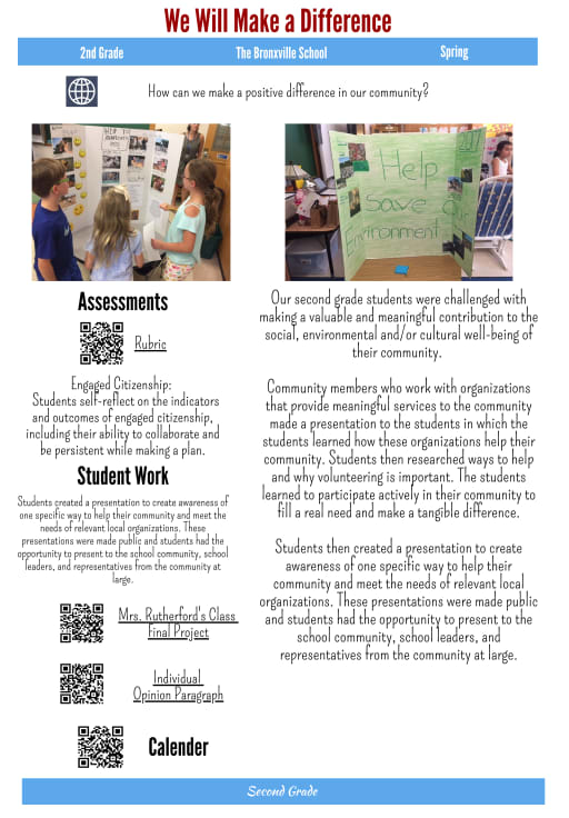 Project Based Learning - Bronxville Union Free School District