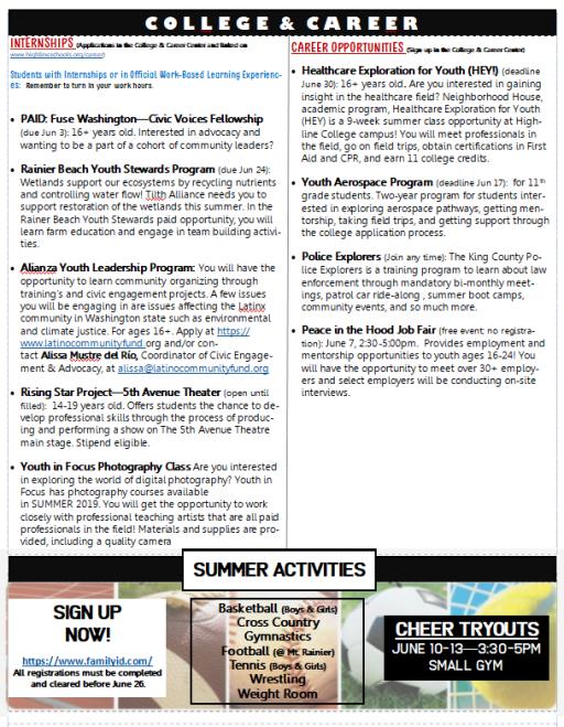 Newlsetter 6 3 19 - 6 7 19 | News Details -