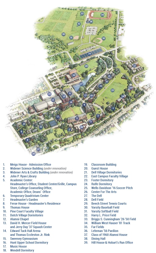 Campus Map - The Hill School