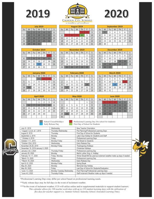 Calendario Gegia.2019 2020 School Calendar