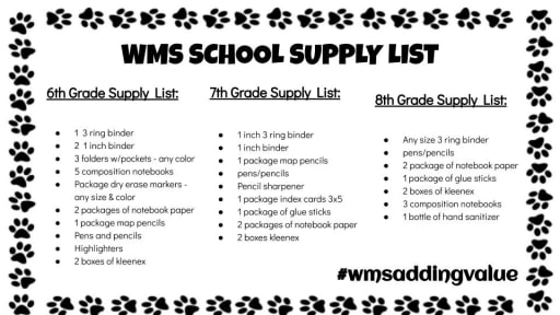 2019-20 School Supplies -