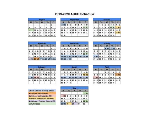 Smsd Calendar 2020 Schedule   Mill Creek Elementary School