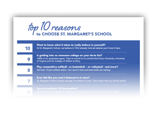 Top 10 Reasons to Choose St. Margaret's School as the best all girls boarding school
